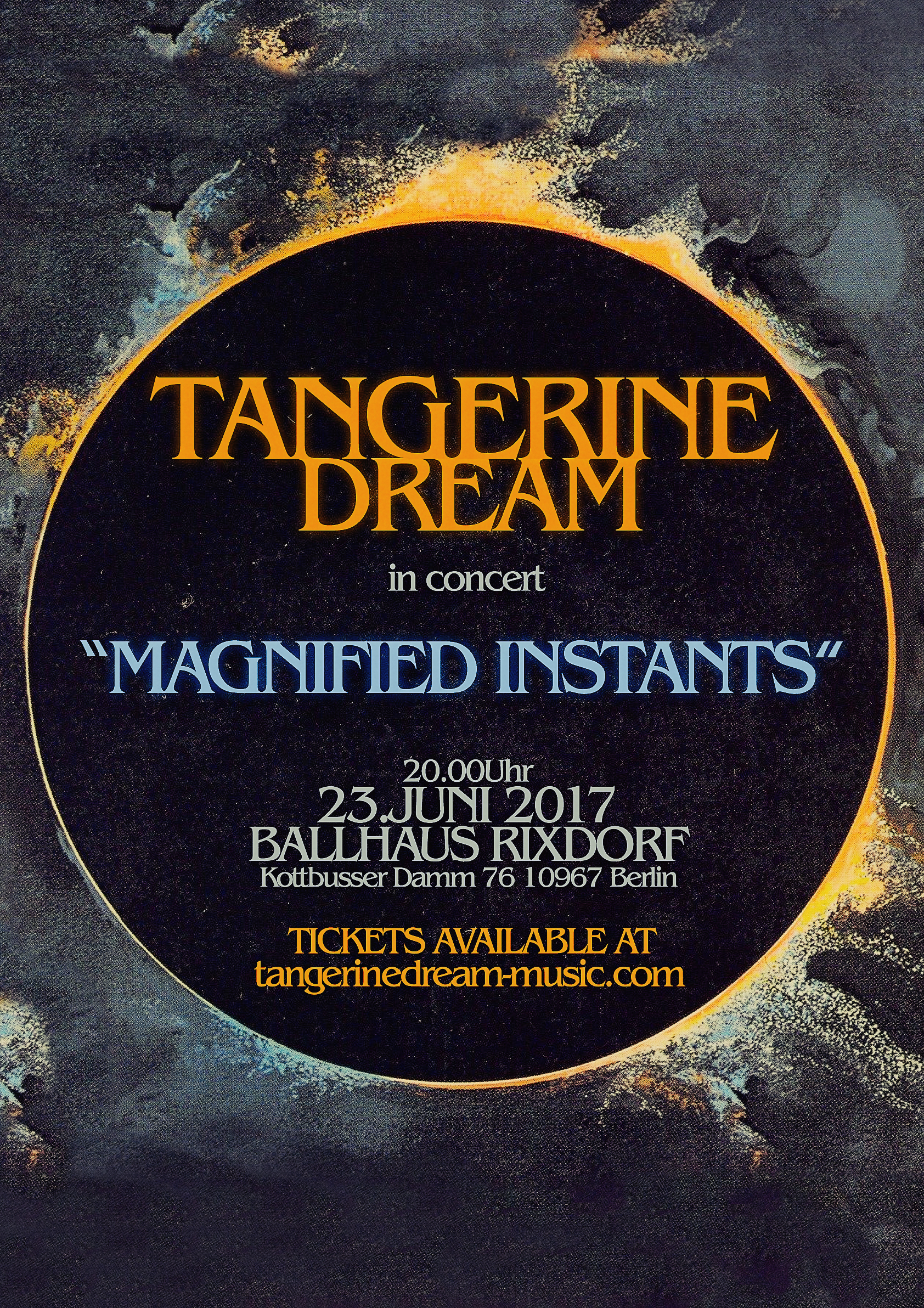 Tangerine Dream weekend in Berlin start 23/June/2017