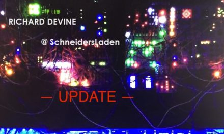 RICHARD DEVINE (update: & SURACHAI) @ SchneidersLaden showroom > this! FRIDAY Oct. 6th/6pm