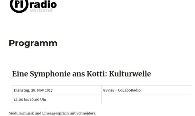 Pi Radio live from Kotti with Schneidersladen and Herr Schneider