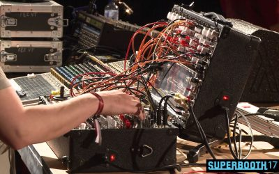 Befaco presenting their mixer modules @SUPERBOOTH17