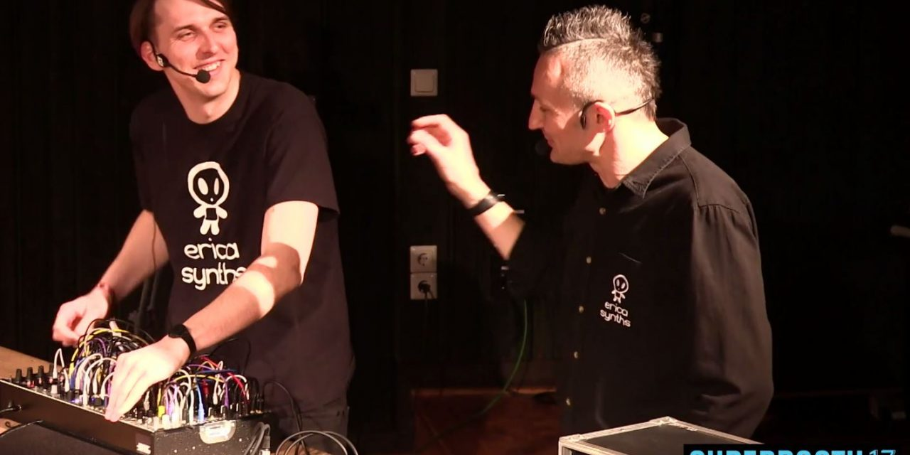 """""""The knobs are amazing"""" – Erica Synths presenting their Drum Sequencer @Superbooth17"""