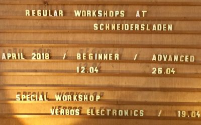 DON´T PANIC! Beginners Workshop. April 12th/ 6PM