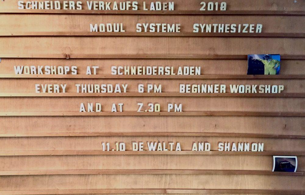 (UPDATE) DeWalta&Shannon – live and workshop //October 11th