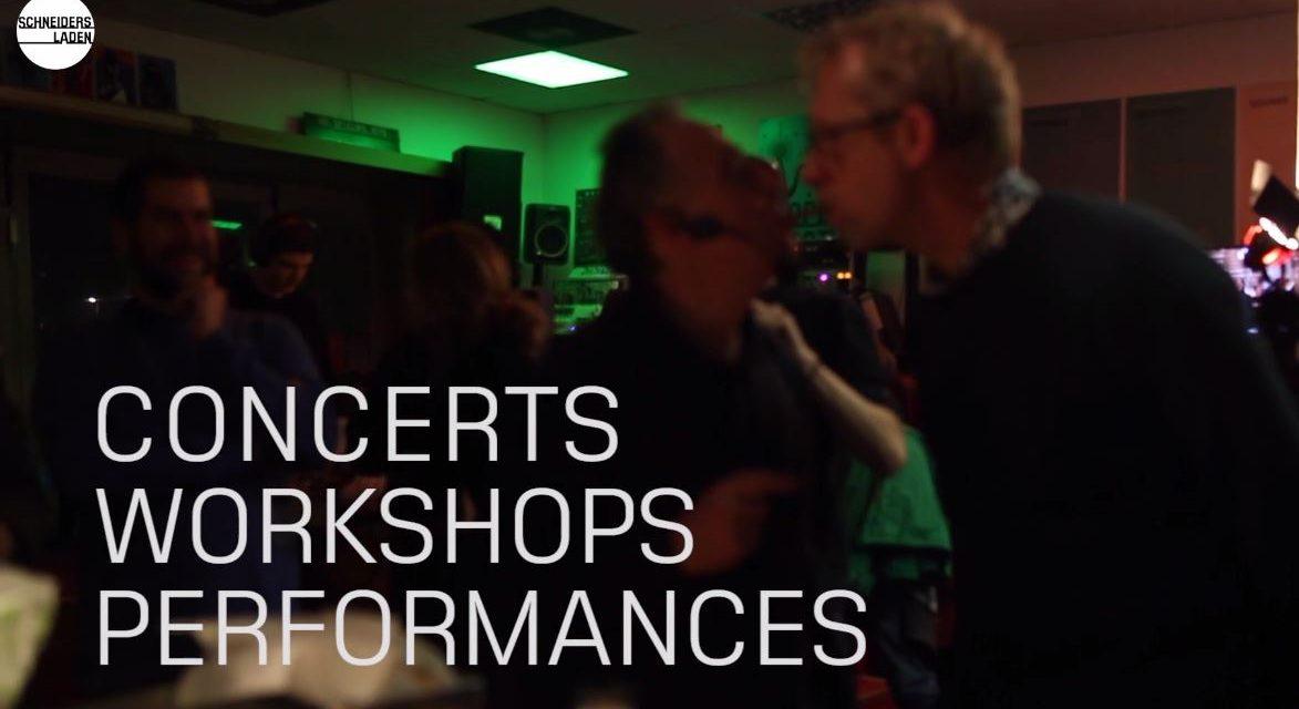 Announcement of new workshop series at SchneidersLaden!