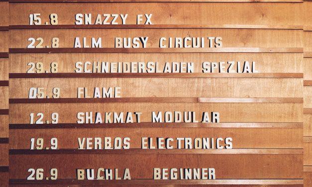 Next Workshop Series at SchneidersLaden