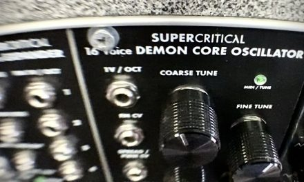 Supercritical Synthesizer Workshop on November 7th!